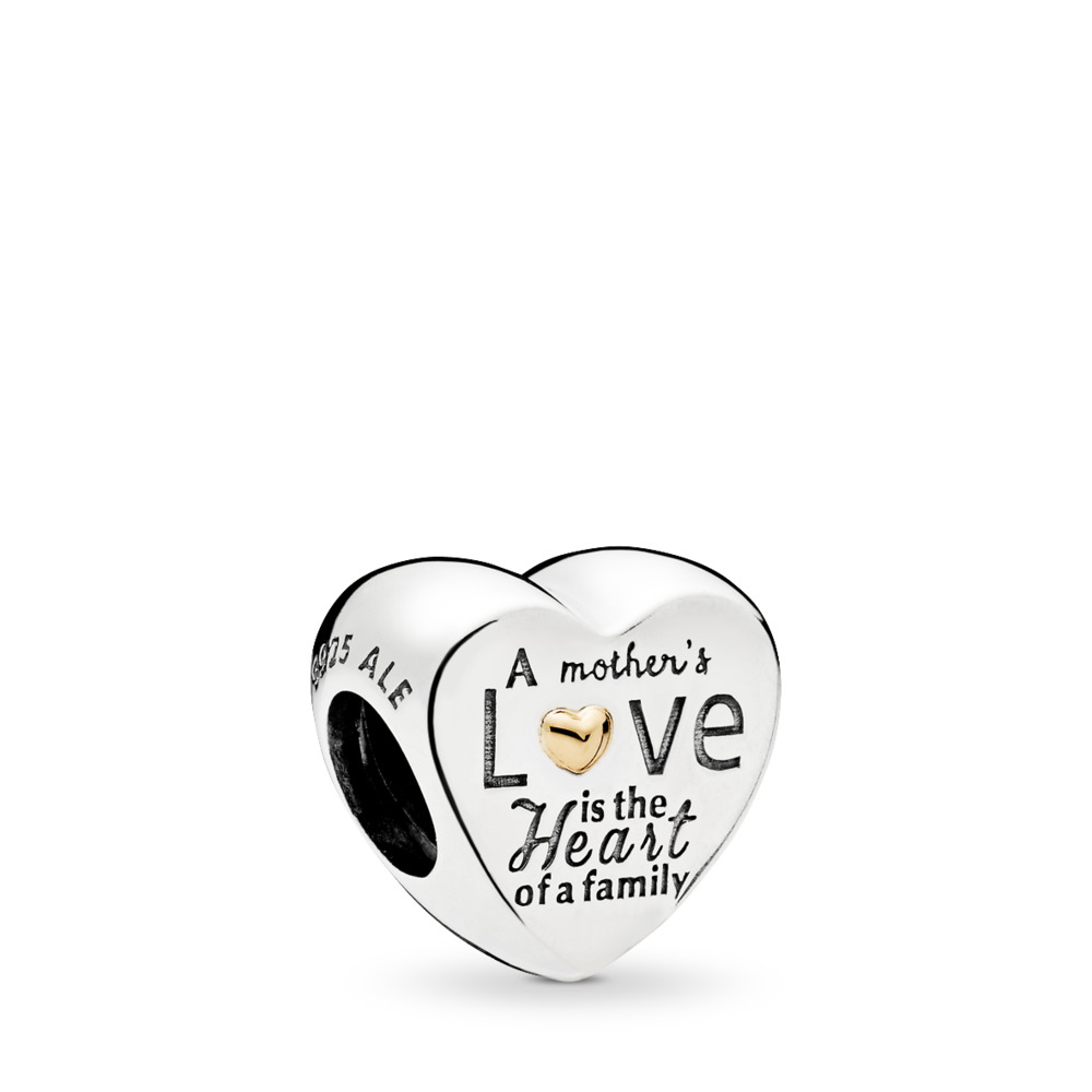 Heart of the Family Charm, Two Tone - PANDORA - #796265