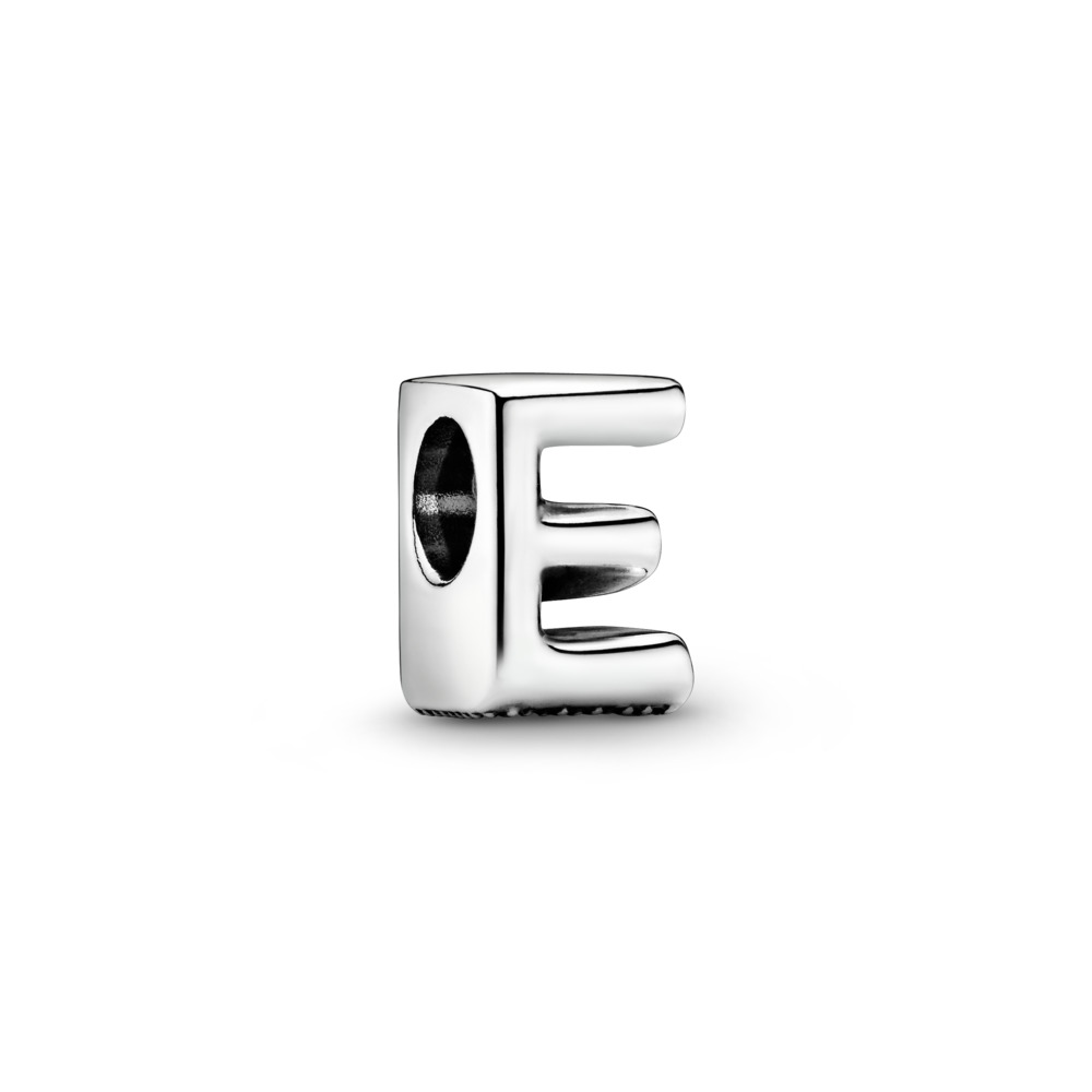 Letter E Charm, Sterling silver - PANDORA - #797459