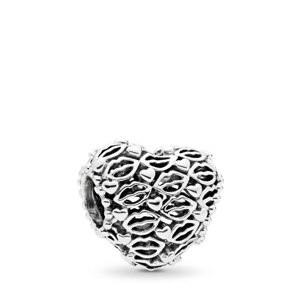 Love & Kisses Charm, Sterling silver - PANDORA - #796564