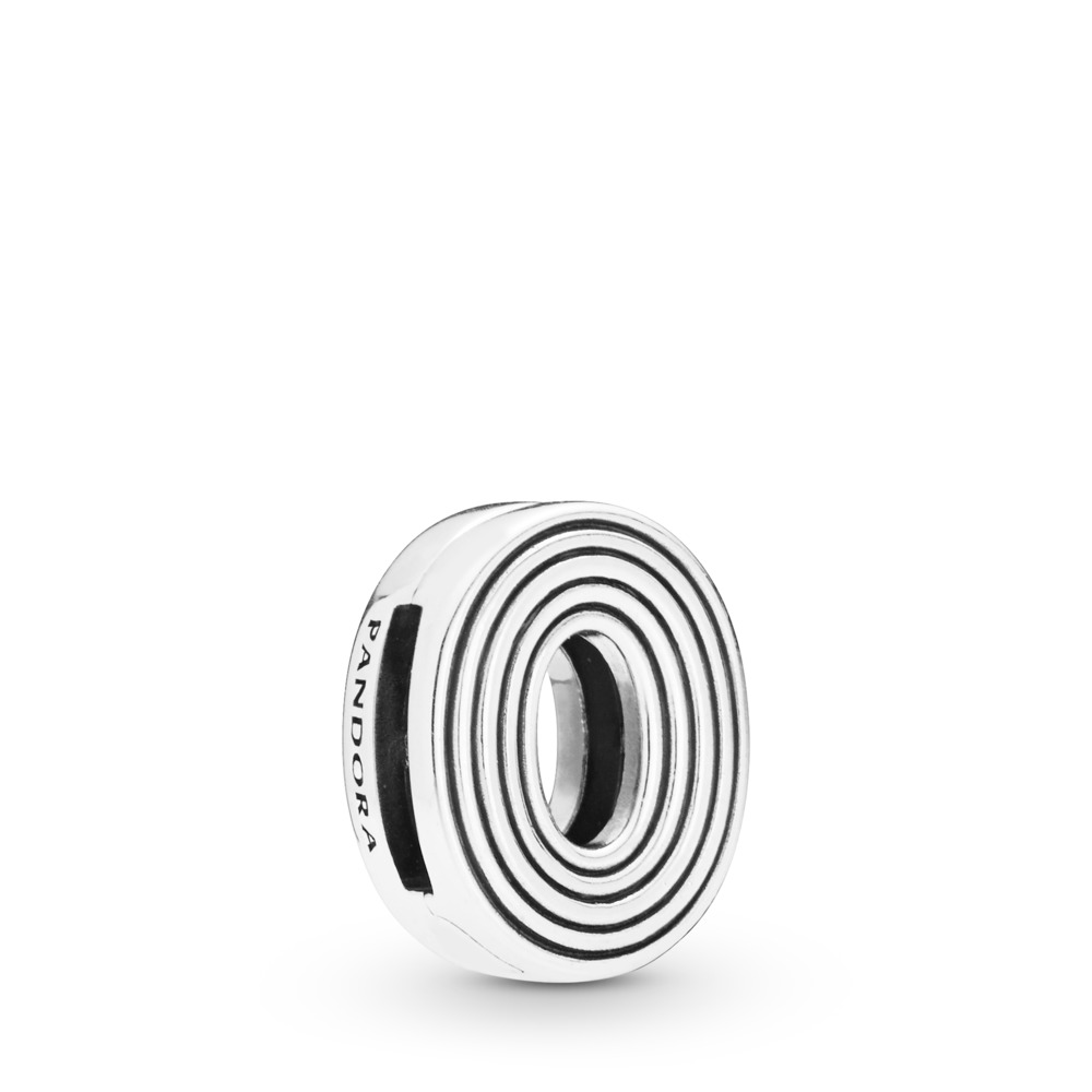 Pandora Reflexions™ Letter O Clip Charm, Sterling silver, Silicone - PANDORA - #798211
