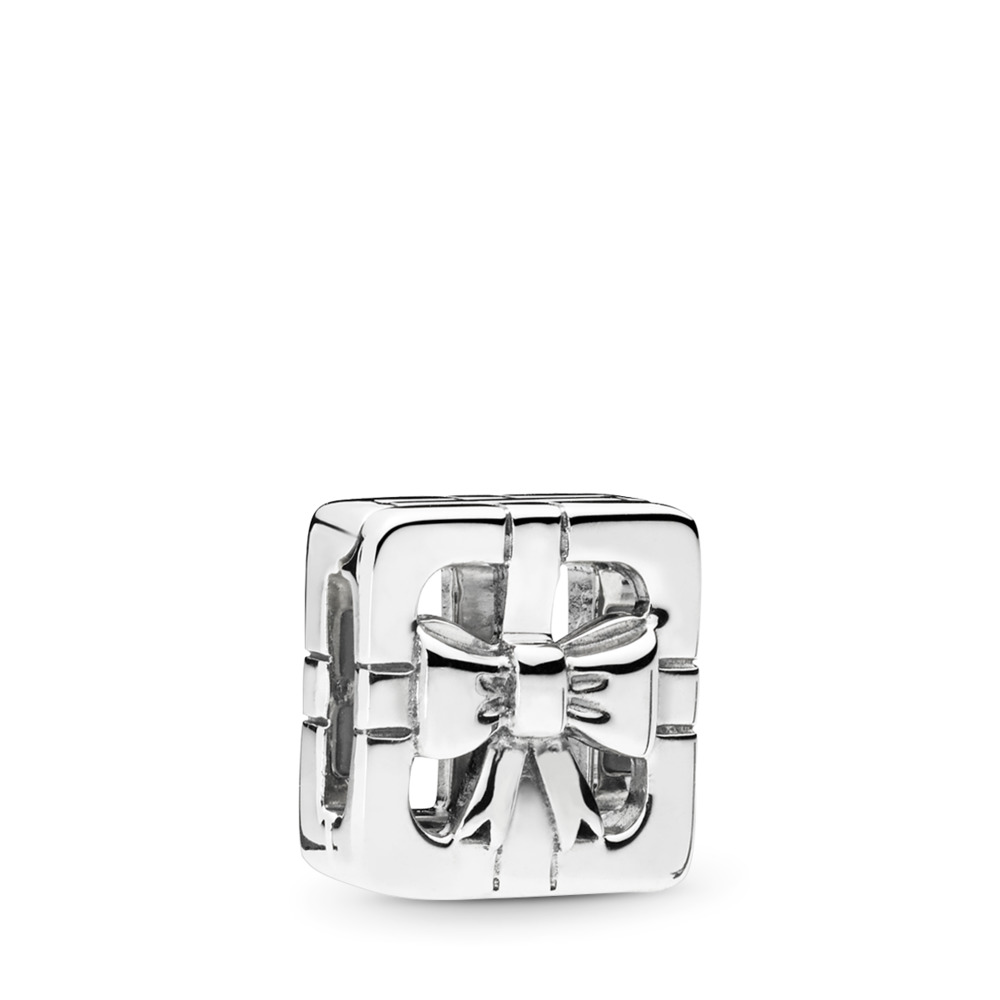 PANDORA REFLEXIONS™ Sweet Gift Box Clip Charm, Sterling silver, Silicone - PANDORA - #797538