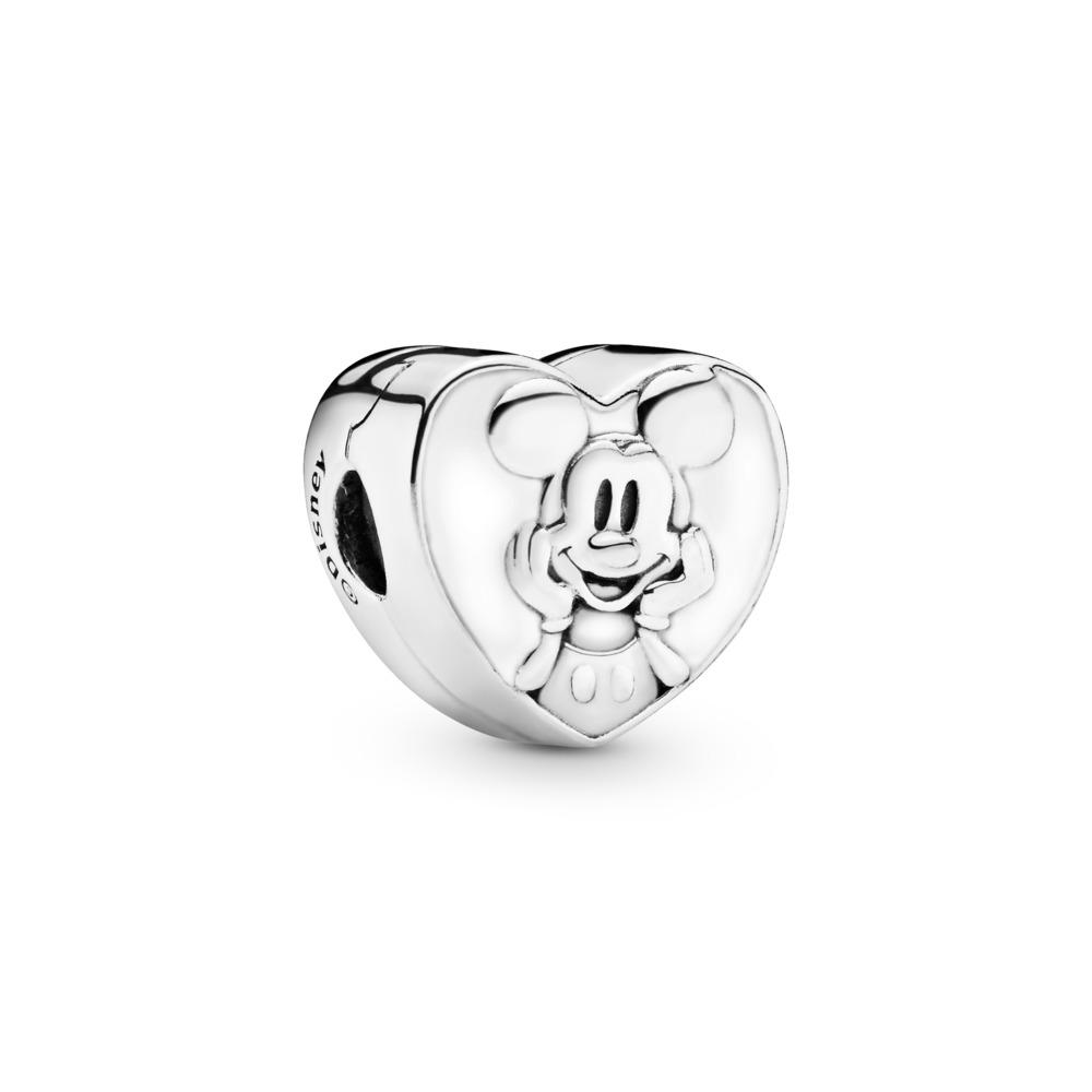 Disney, Vintage Mickey Clip, White Enamel, Sterling silver, Enamel, White - PANDORA - #797169EN12
