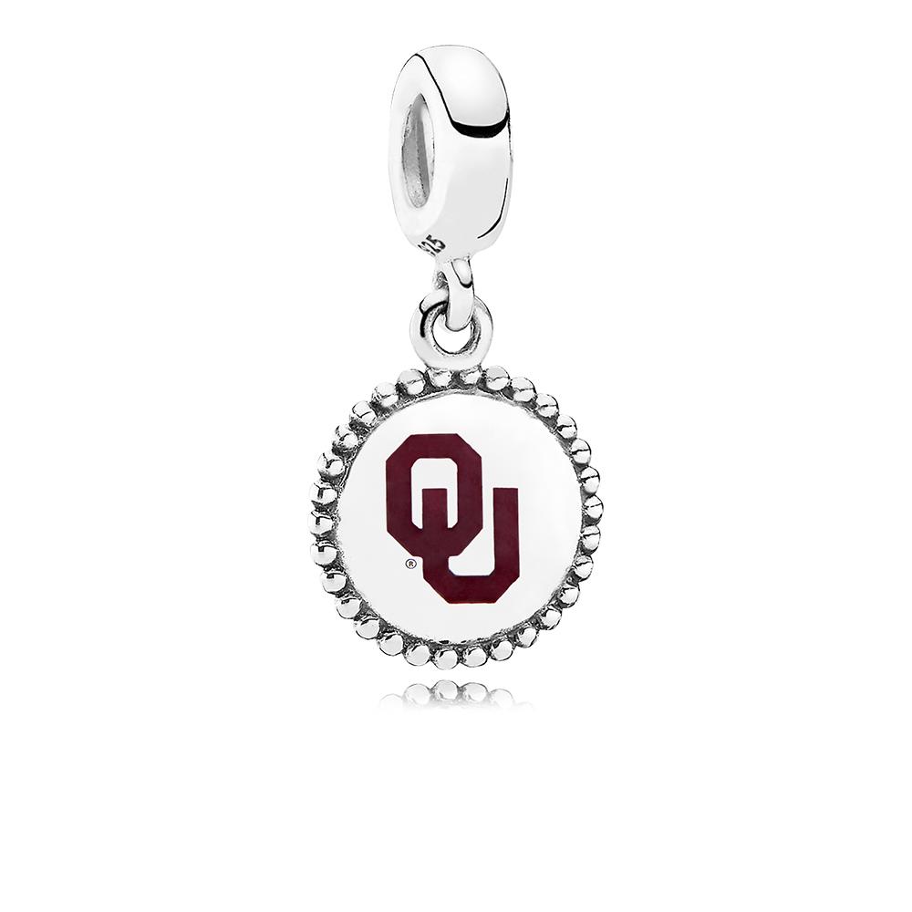 University of Oklahoma Dangle Charm, Maroon Enamel