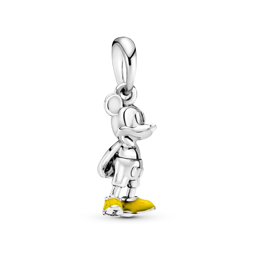 Disney, Classic Mickey Pendant, Yellow Enamel, Sterling silver, Enamel, Yellow - PANDORA - #397394EN06