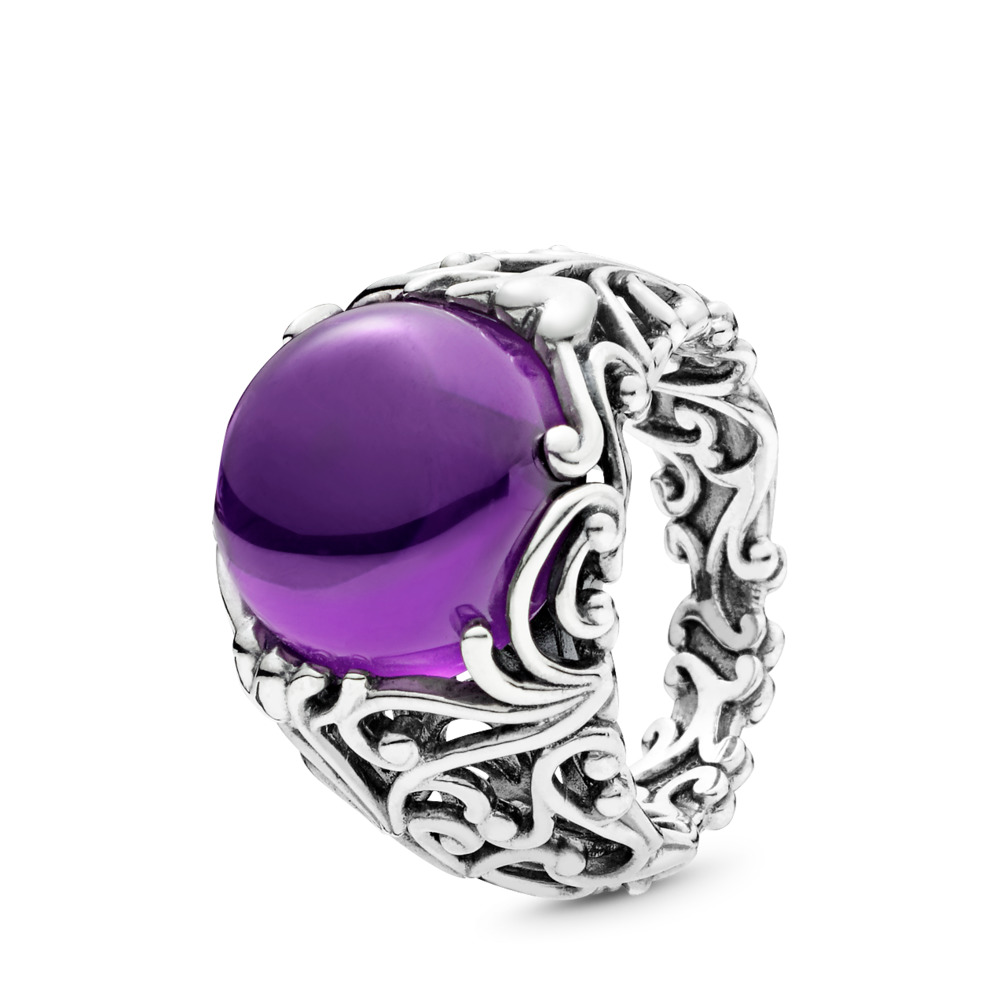 Regal Dazzling Beauty Ring, Purple CZ, Sterling silver, Purple, Cubic Zirconia - PANDORA - #197678ACZ