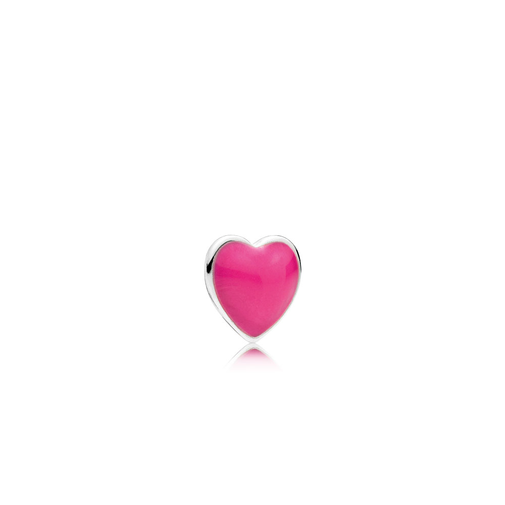 Magenta Heart Petite Locket Charm