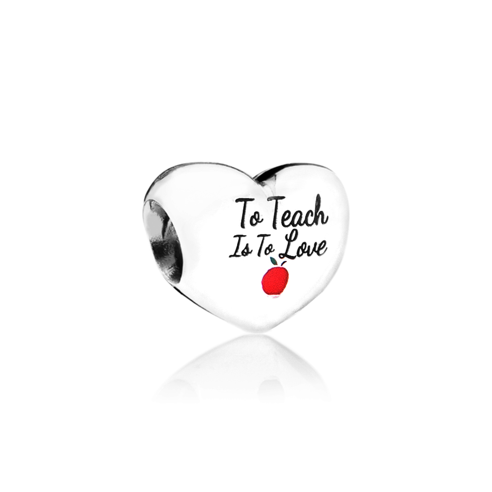 To Teach Is To Love Heart Charm