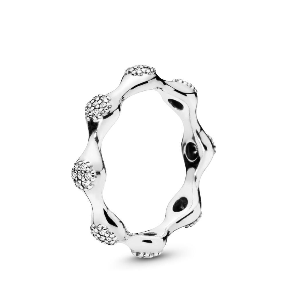 Modern LovePods™ Ring, Clear CZ, Sterling silver, Cubic Zirconia - PANDORA - #197295CZ