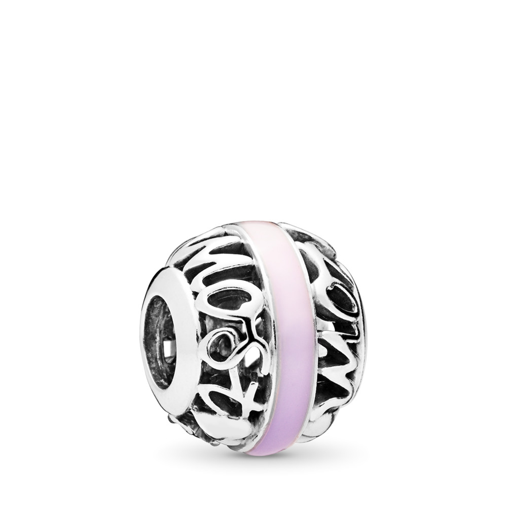 Degrees of Love Charm, Mixed Enamel, Sterling silver, Enamel, Pink - PANDORA - #797244ENMX