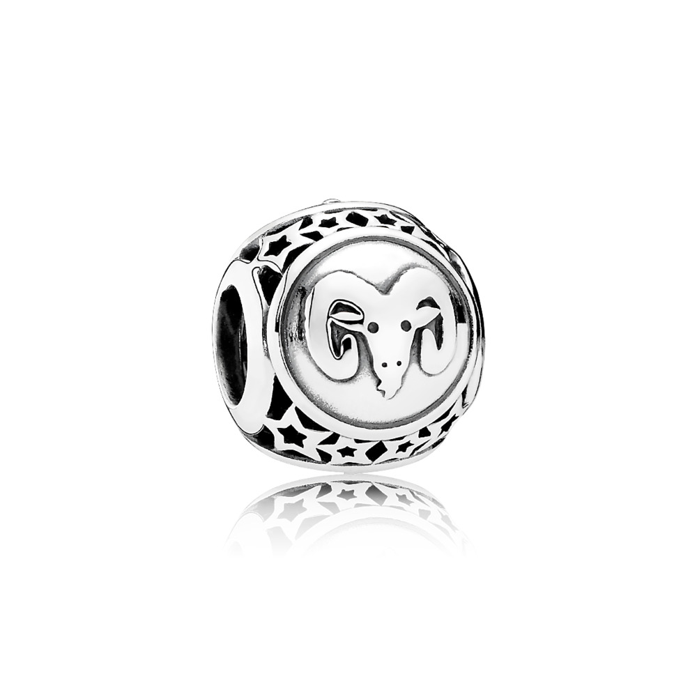 Aries Star Sign Charm, Sterling silver - PANDORA - #791936