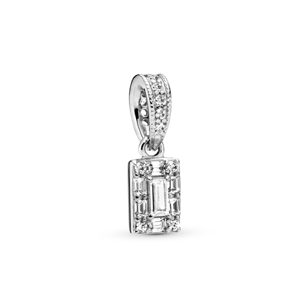 Luminous Ice Pendant, Clear CZ, Sterling silver, Cubic Zirconia - PANDORA - #397543CZ