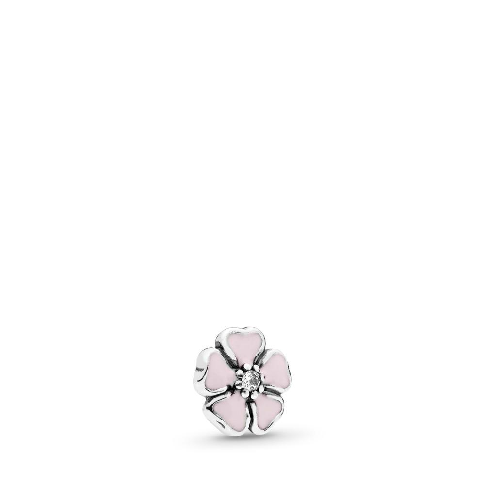 Cherry Blossom Petite Locket Charm, Sterling silver, Enamel, Cubic Zirconia - PANDORA - #792174EN40
