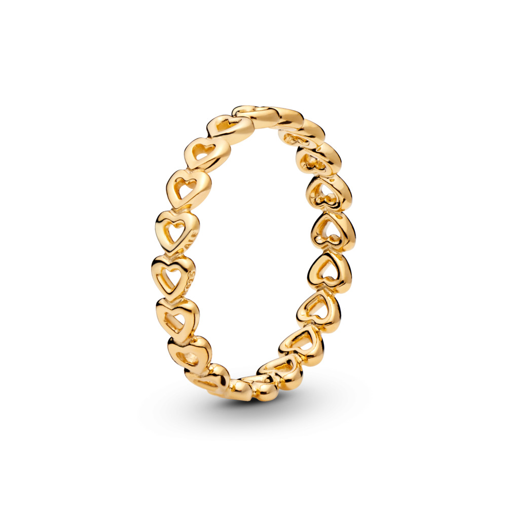 Linked Love Ring, PANDORA Shine™, 18ct Gold Plated - PANDORA - #167105