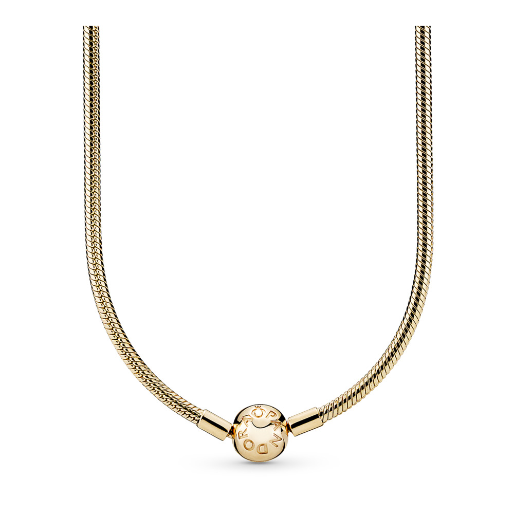 14K Gold Charm Necklace, Yellow Gold 14 k - PANDORA - #550742