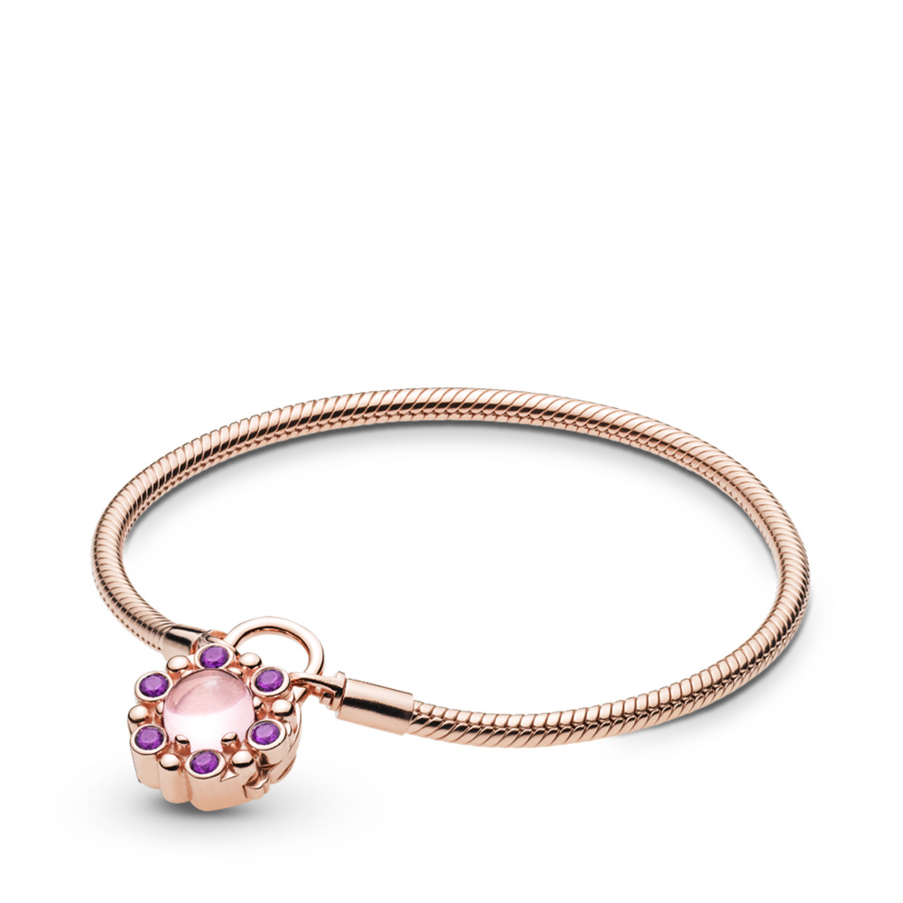 e0faac7be805 Pulsera de Candado Moments de PANDORA Rose