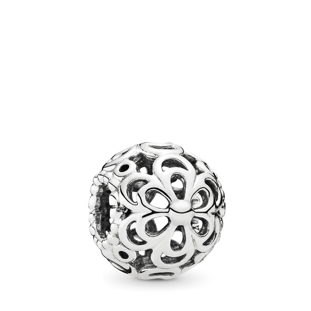 Picking Daisies Flower Charm, Sterling silver - PANDORA - #790965
