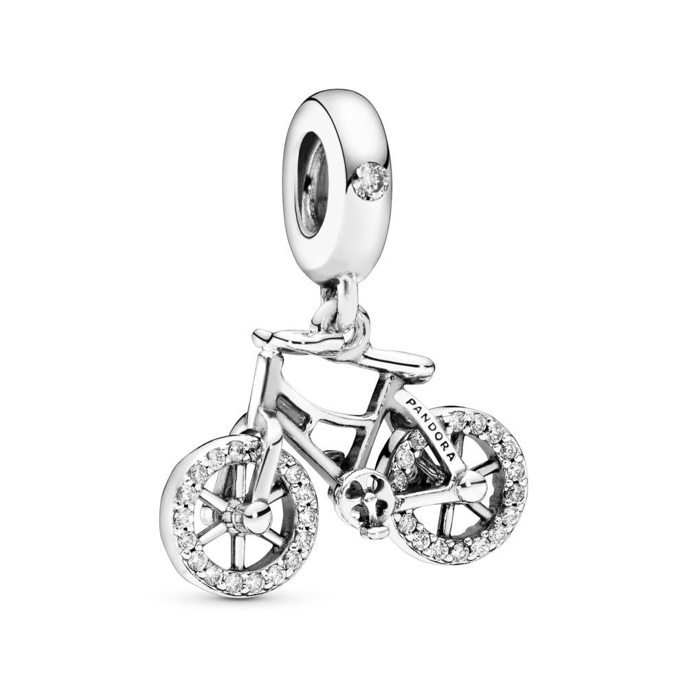 Brilliant Bicycle Dangle Charm, Sterling silver, Cubic Zirconia - PANDORA - #797858CZ