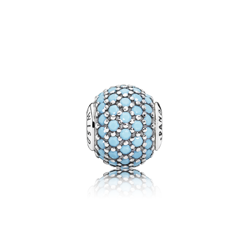WISDOM Charm, Turquoise-Colored Crystal
