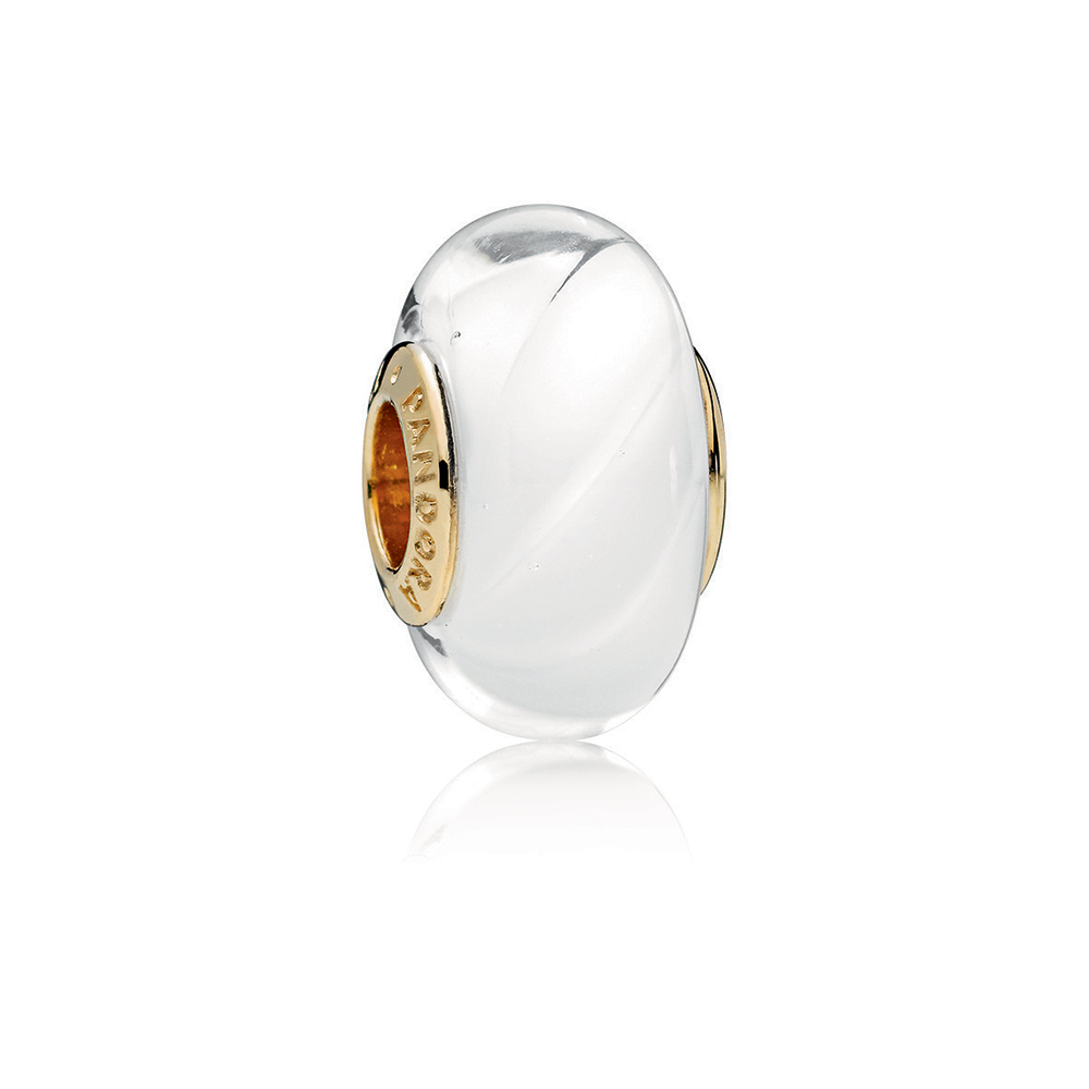 White Waves Charm, PANDORA Shine™ & Murano Glass