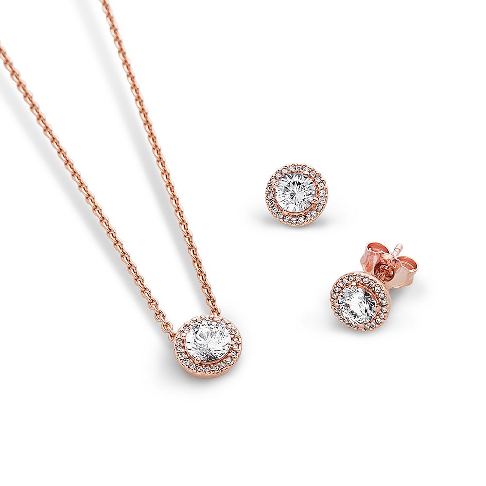 Simply Elegant Pandora Rose™ Jewelry Set, PANDORA Rose™ - PANDORA - #CS1702