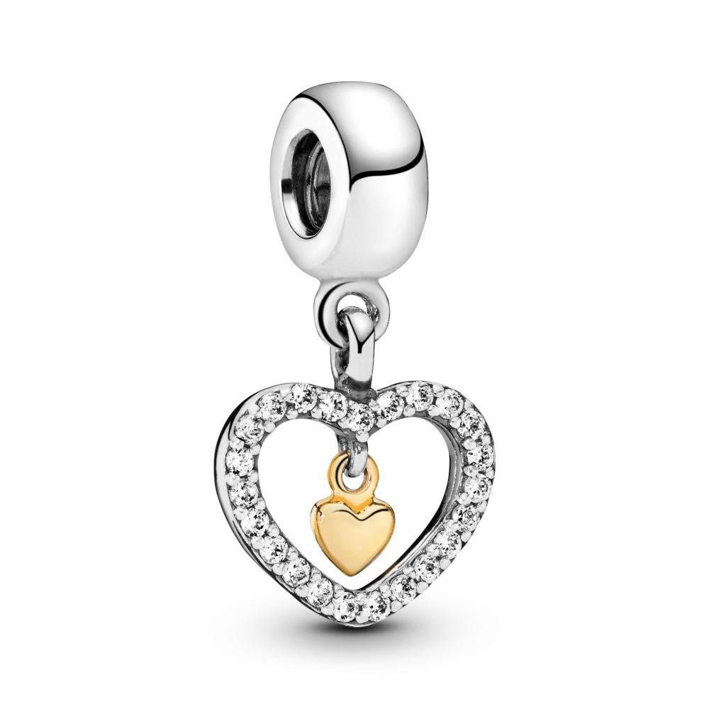 Forever in My Heart, Clear CZ, Two Tone, Cubic Zirconia - PANDORA - #791421CZ