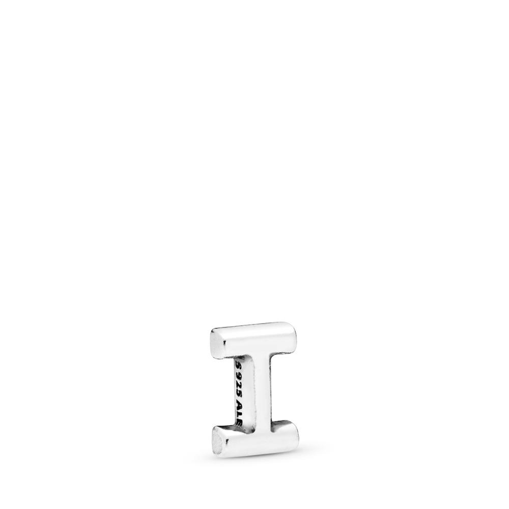 Letter I Petite Locket Charm, Sterling silver - PANDORA - #797327