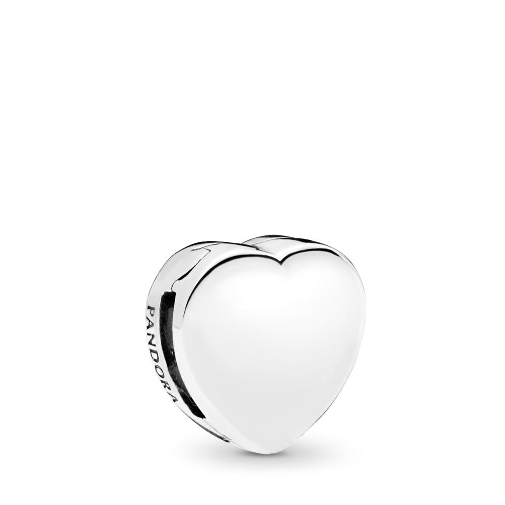 Corazón, Plata, Silicona, sin color, Sin piedra - PANDORA - #797620