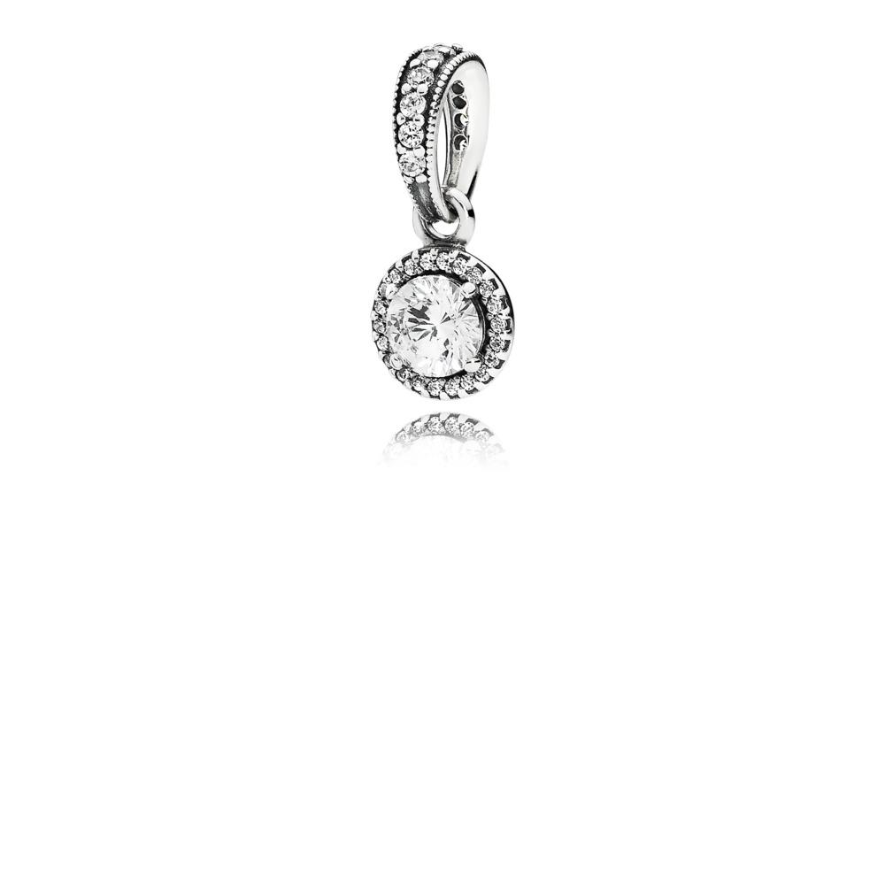 Classic Elegance Pendant, Clear CZ, Sterling silver, Cubic Zirconia - PANDORA - #390379CZ