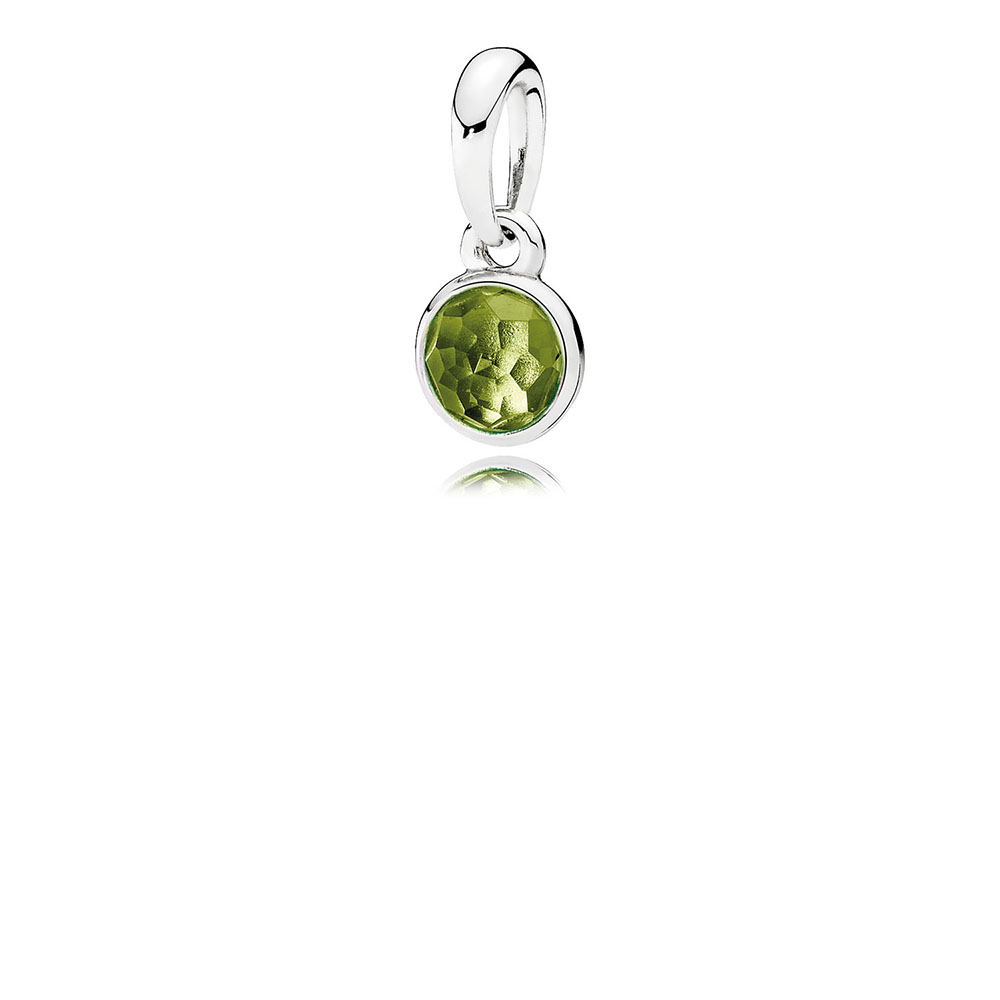 August Droplet Pendant, Peridot