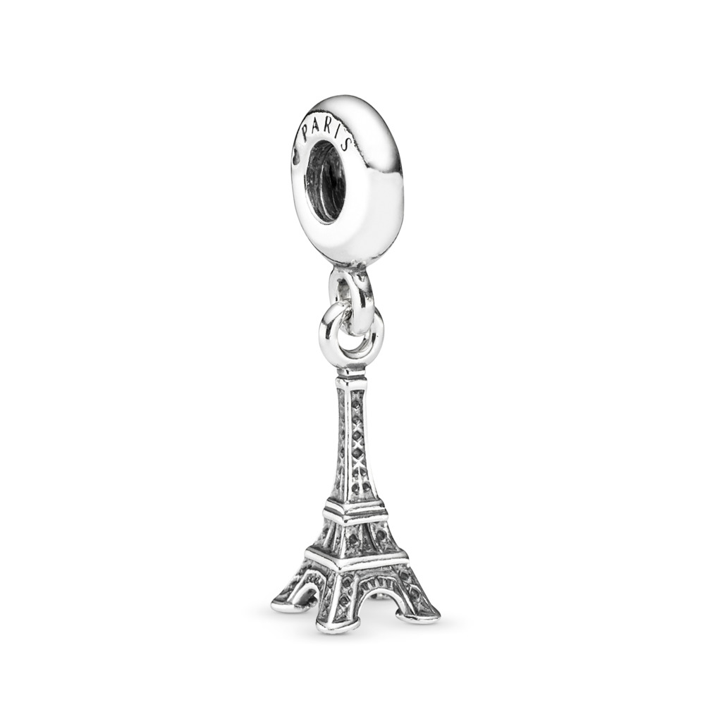 70583424e Eiffel Tower Dangle Charm, Sterling silver - PANDORA - #791082