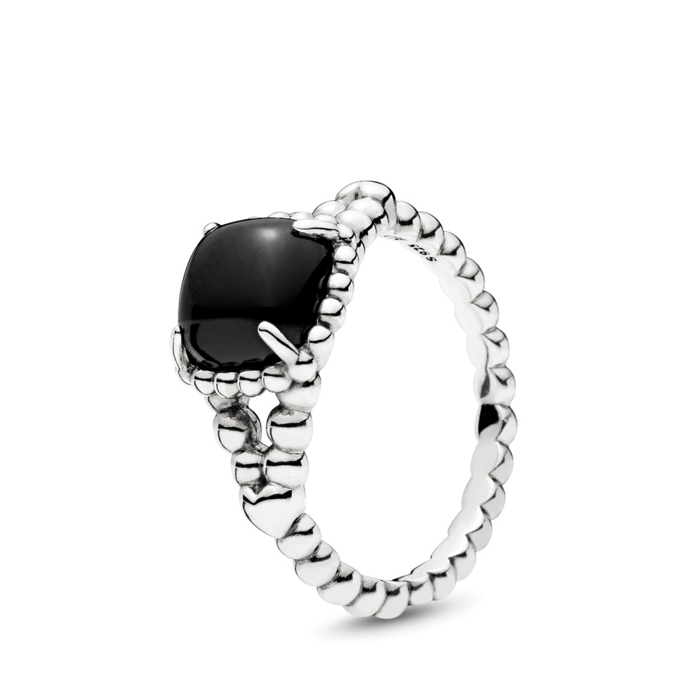 Vibrant Spirit Ring, Black Crystal, Sterling silver, Black, Crystal - PANDORA - #197188NCK