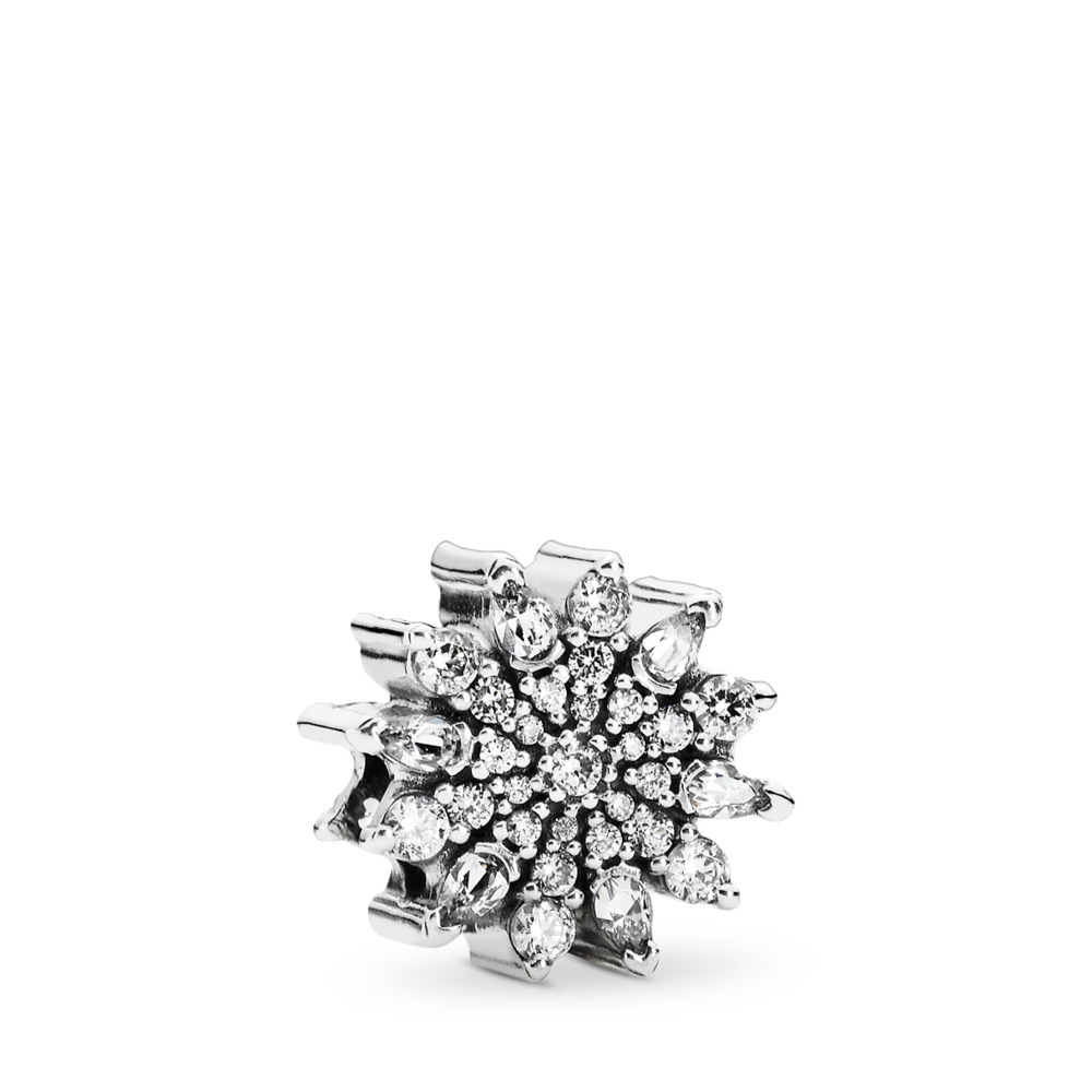 Ice Crystal Charm, Clear CZ, Sterling silver, Cubic Zirconia - PANDORA - #791764CZ