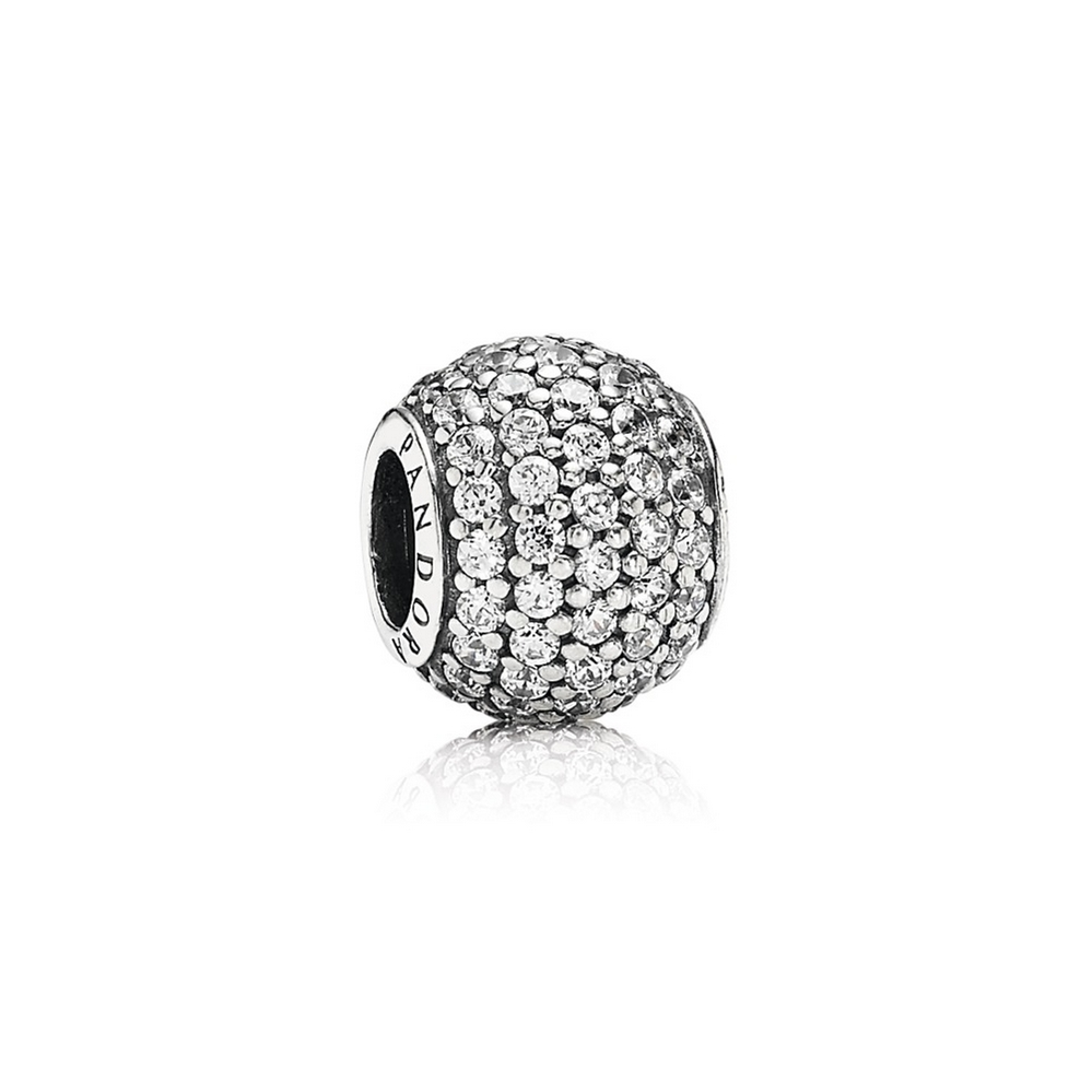 Pavé Lights Charm, Clear CZ
