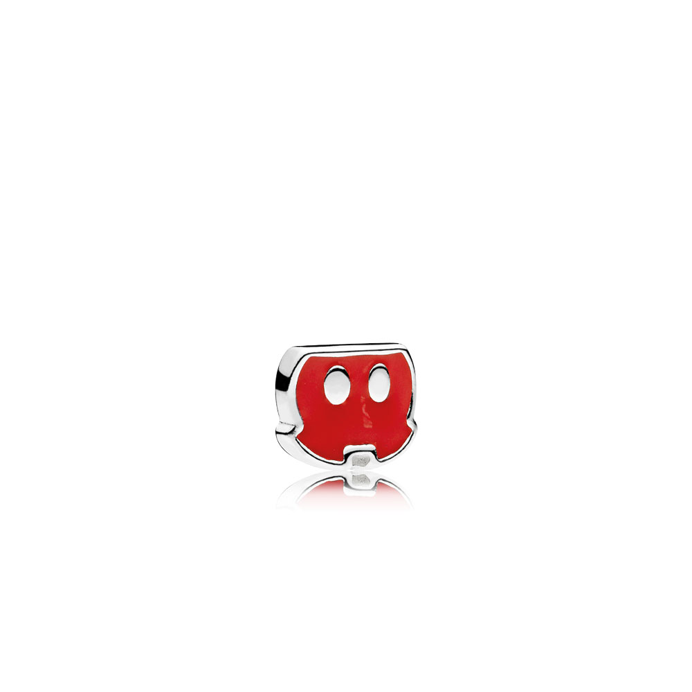 Disney, Mickey Trousers Petite Locket Charm, Red Enamel