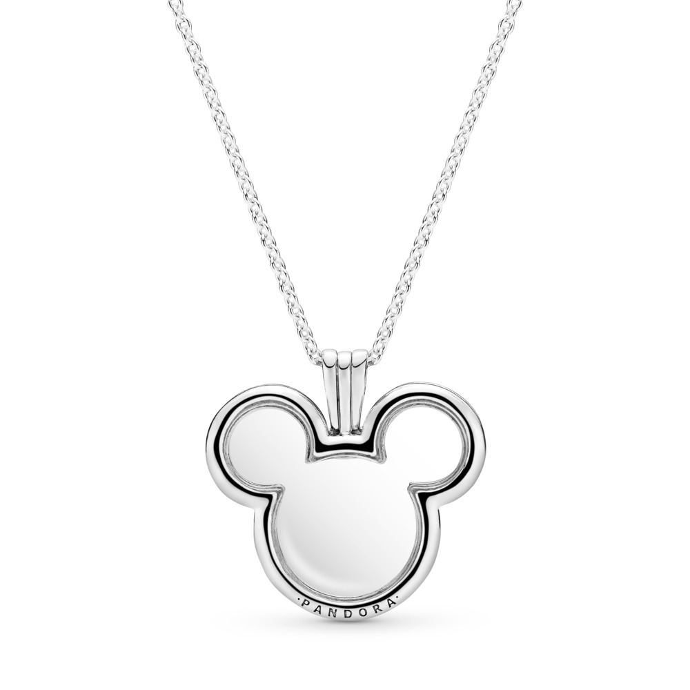 Disney, Mickey Floating Locket, Clear CZ, Sterling silver, Glass - PANDORA - #397177