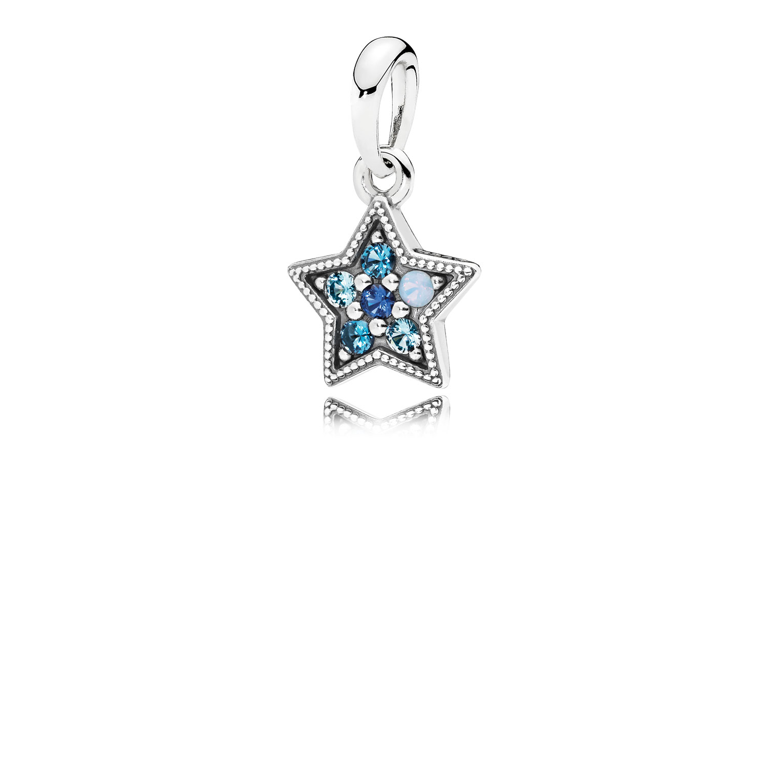 Bright Star Necklace Pendant, Multi-Colored Crystals