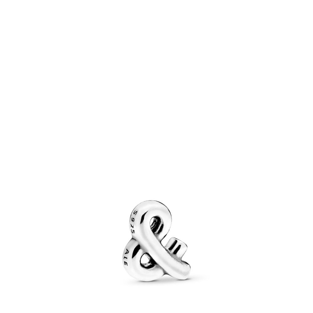 Ampersand Sign Petite Locket Charm, Sterling silver - PANDORA - #797324