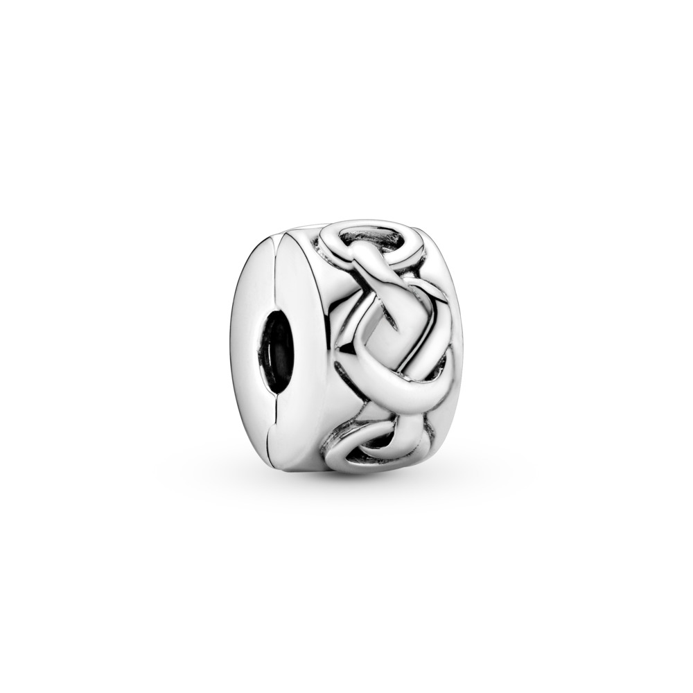 Knotted Heart Clip, Sterling silver - PANDORA - #798035