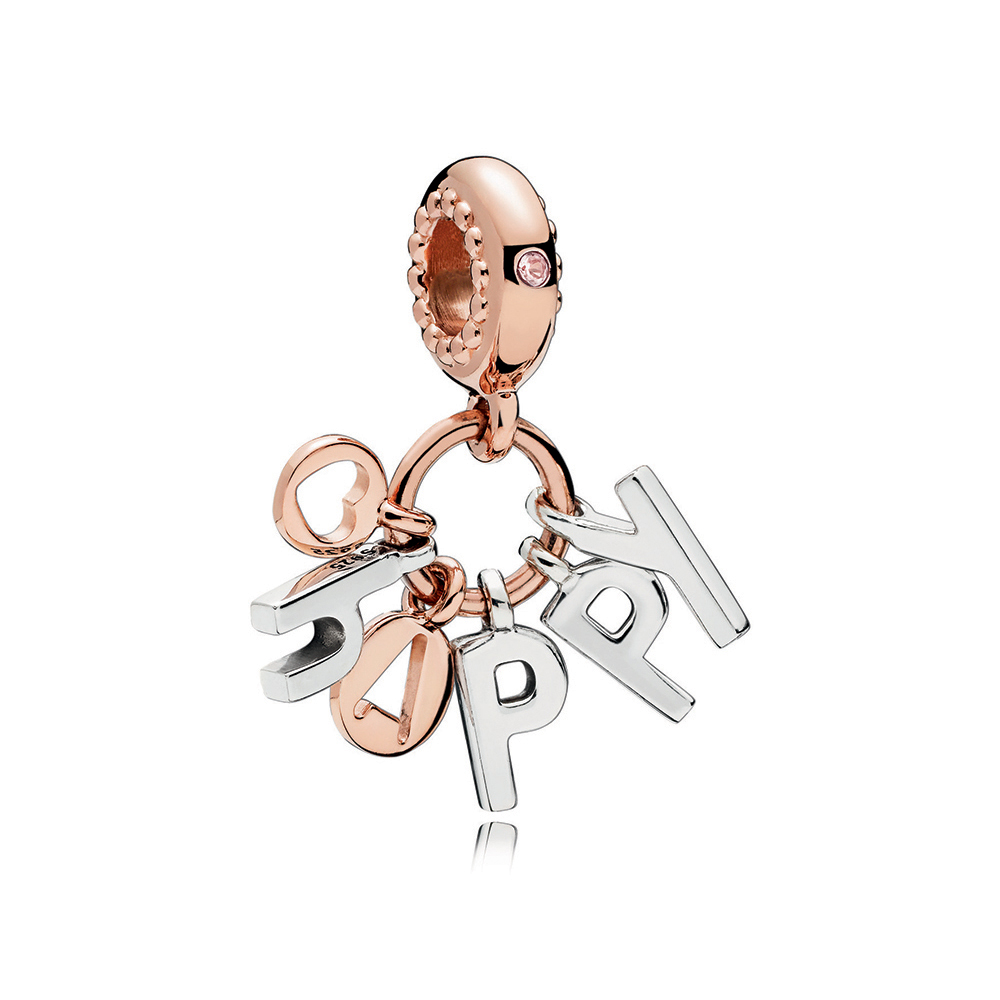 Be Happy Dangle Charm, PANDORA Rose™