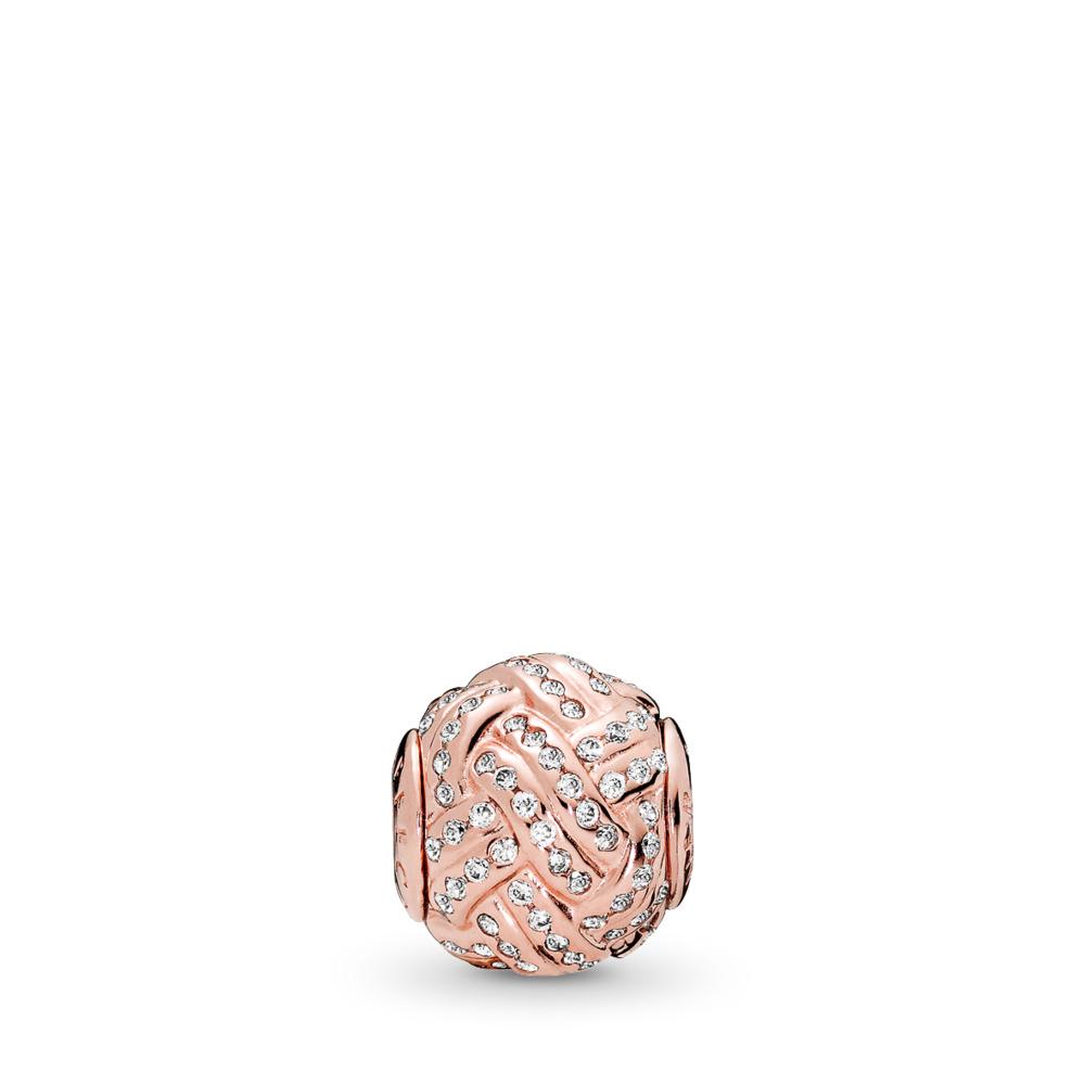 AFFECTION Charm, PANDORA Rose™ & Clear CZ, PANDORA Rose, Silicone, Cubic Zirconia - PANDORA - #786303CZ
