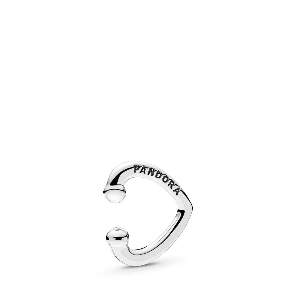Open Heart Ear Cuff, Sterling silver - PANDORA - #297214