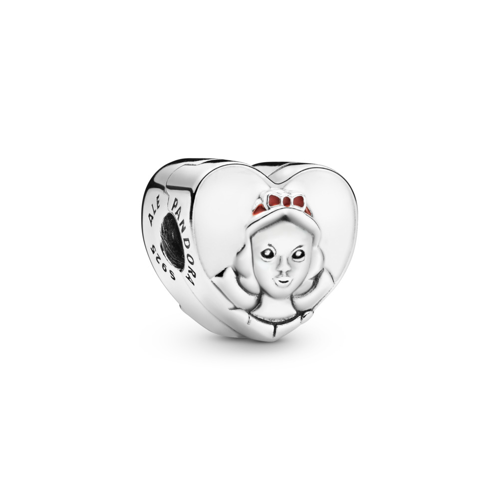 Disney, Snow White Portrait Charm, Mixed Enamel, Sterling silver, Enamel, Red - PANDORA - #797165ENMX
