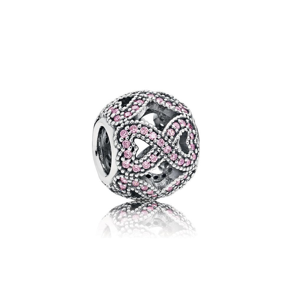 Women's Day 2018 Charm, Pink CZ