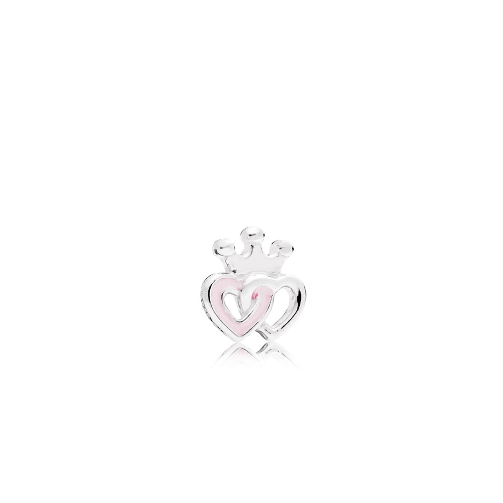 Crowned Heart Petite Locket Charm