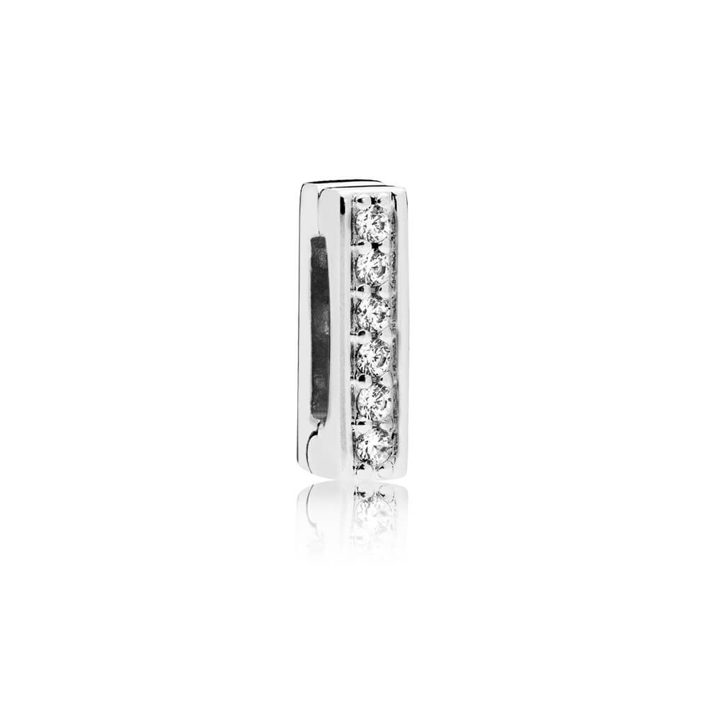PANDORA Reflexions™ Timeless Sparkle Clip Charm, Clear CZ
