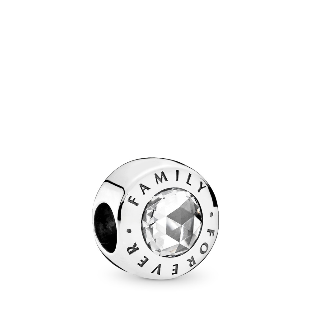 Family Forever, Clear CZ, Sterling silver, Cubic Zirconia - PANDORA - #791884CZ