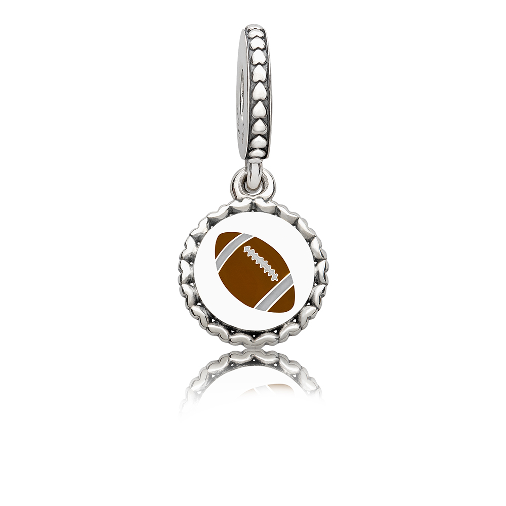 Football Dangle Charm, Mixed Enamel, Sterling Silver, Brown - PANDORA - #ENG792018_15