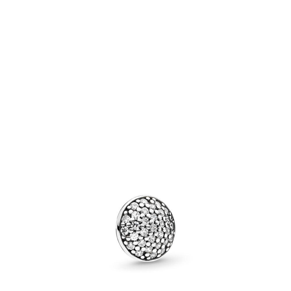Dazzling Droplet Petite Locket Charm, Sterling silver, Cubic Zirconia - PANDORA - #792177CZ