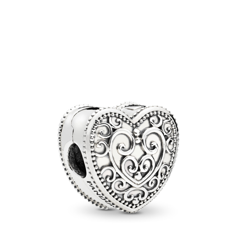 Enchanted Heart Clip, Sterling silver - PANDORA - #797024