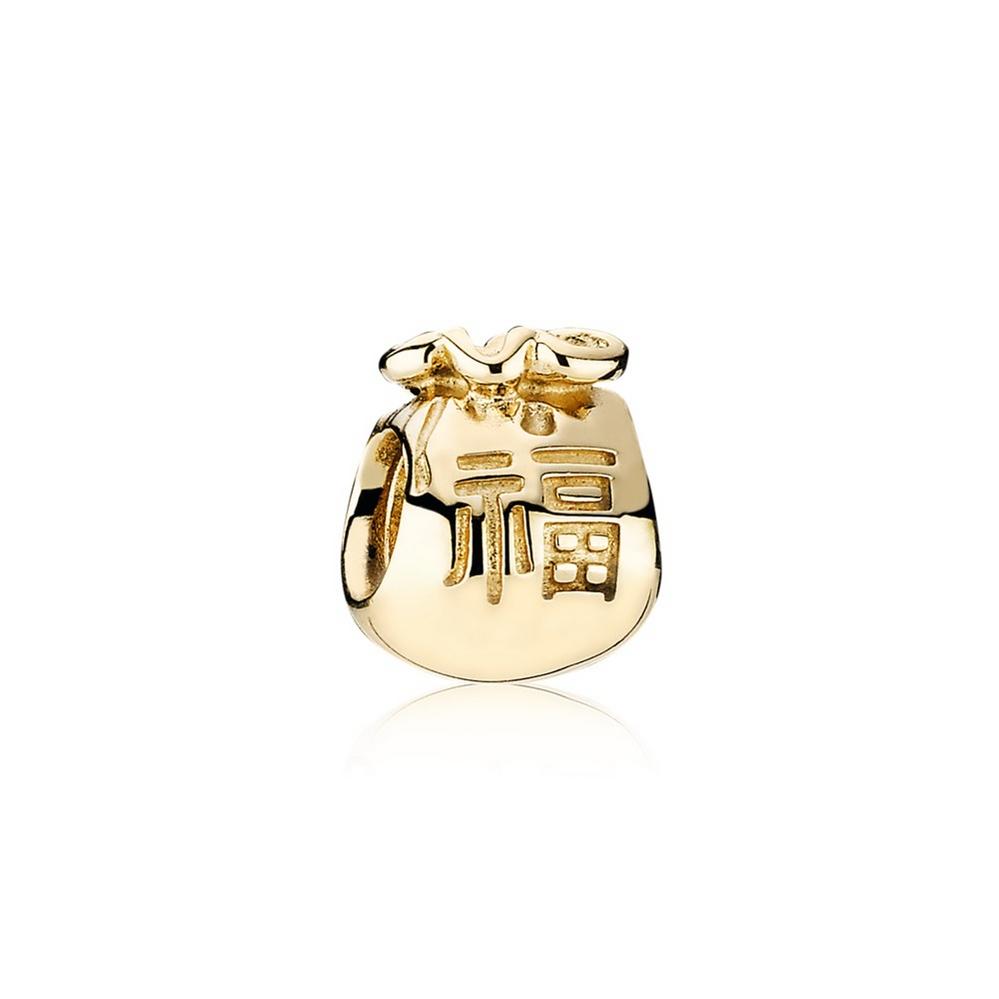 Money bag gold charm